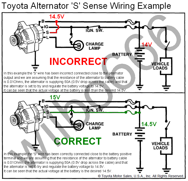 alternator charge light wiring diagram images wilbo666 toyota alternator charging system wiring diagram