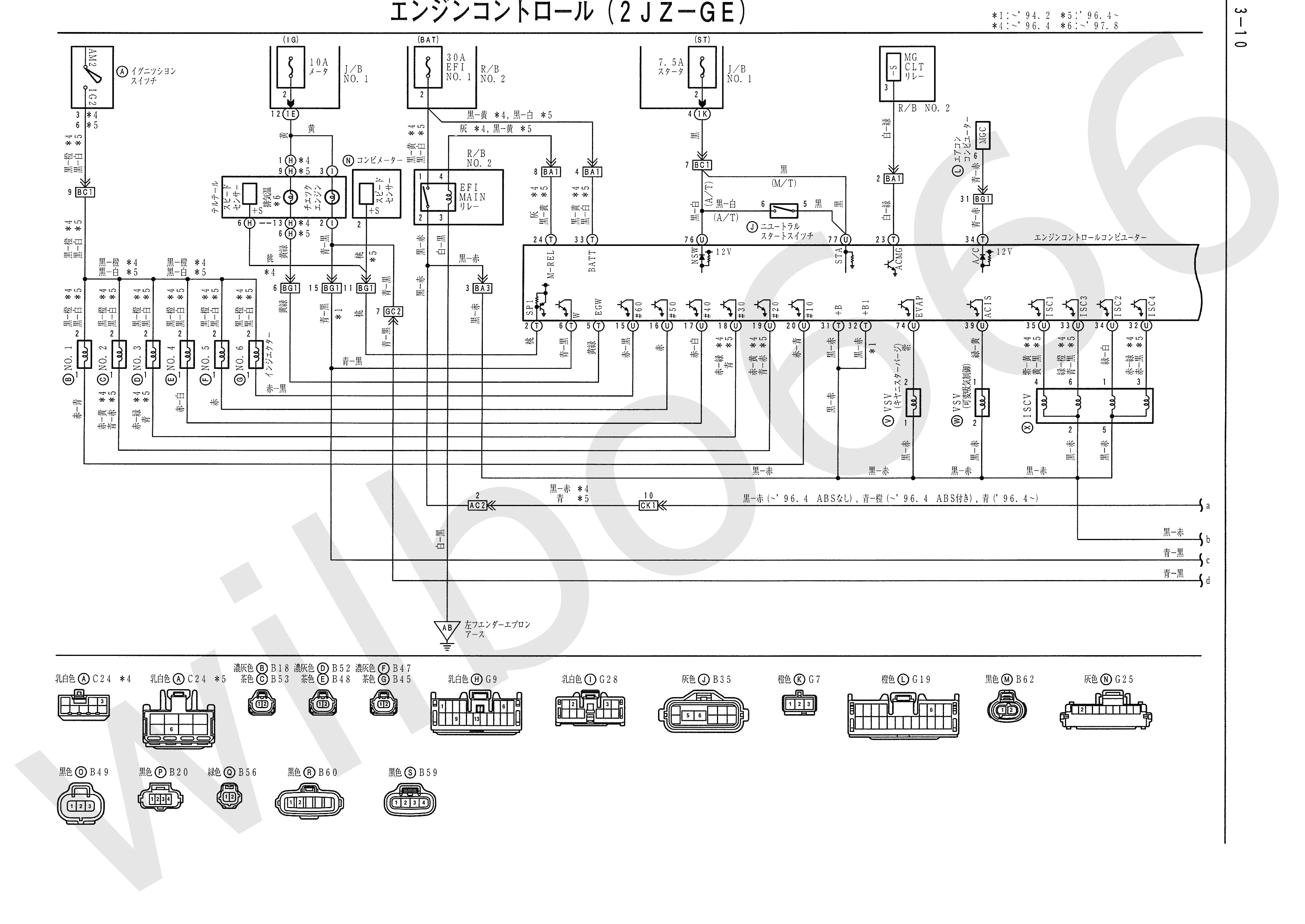 JZA80 Electrical Wiring Diagram 6742505 3 10 wilbo666 2jz ge jza80 supra engine wiring SC300 Pinout Plug Orange Interior at soozxer.org