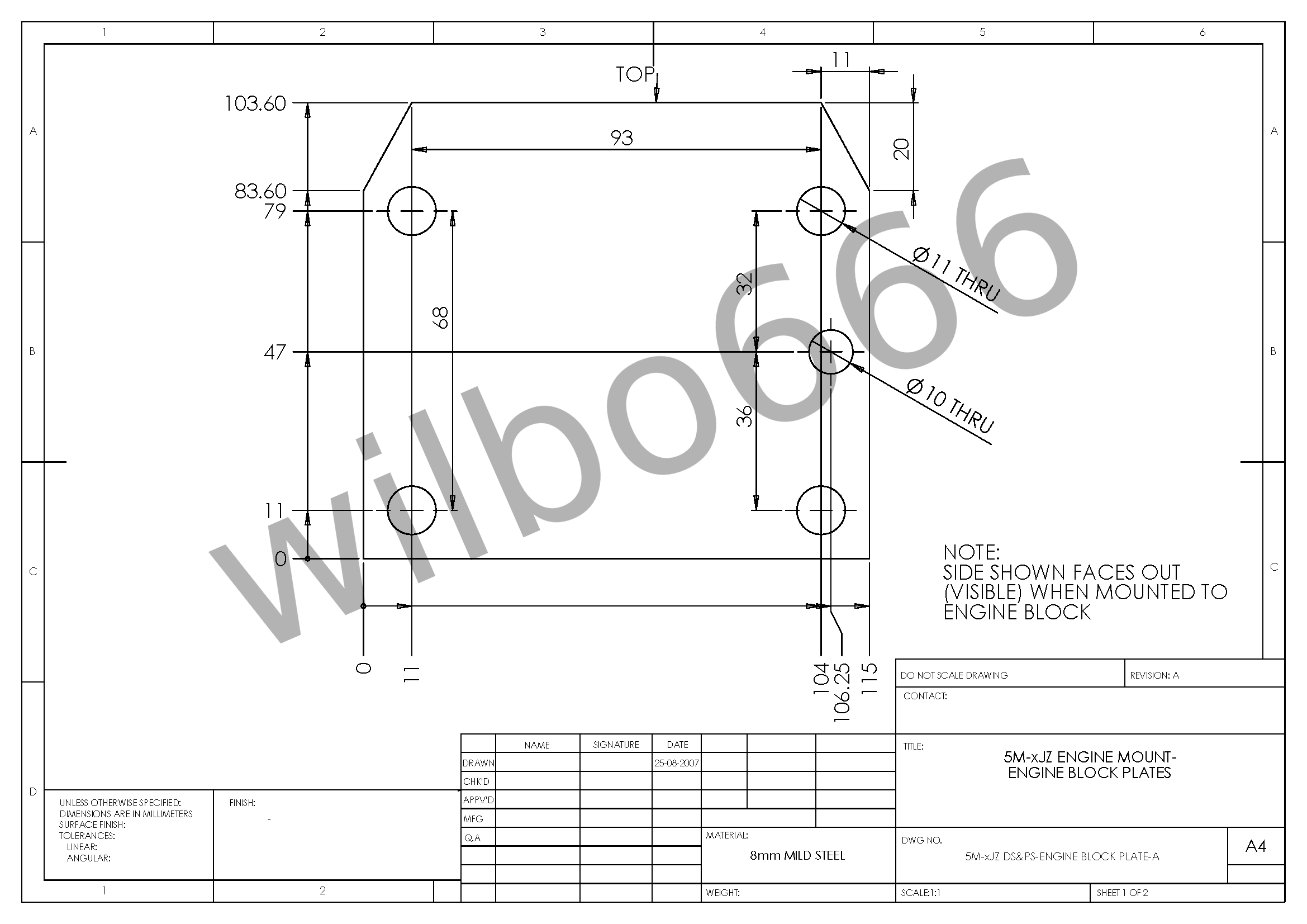 Wilbo666 m series engine to xjz series engine conversion engine please click on the drawing images to be taken to a higher resolution version pooptronica