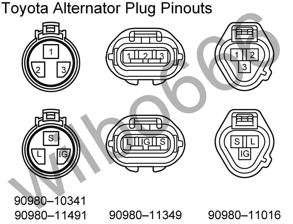 87 toyota pickup alternator pigtail wiring diagram  87