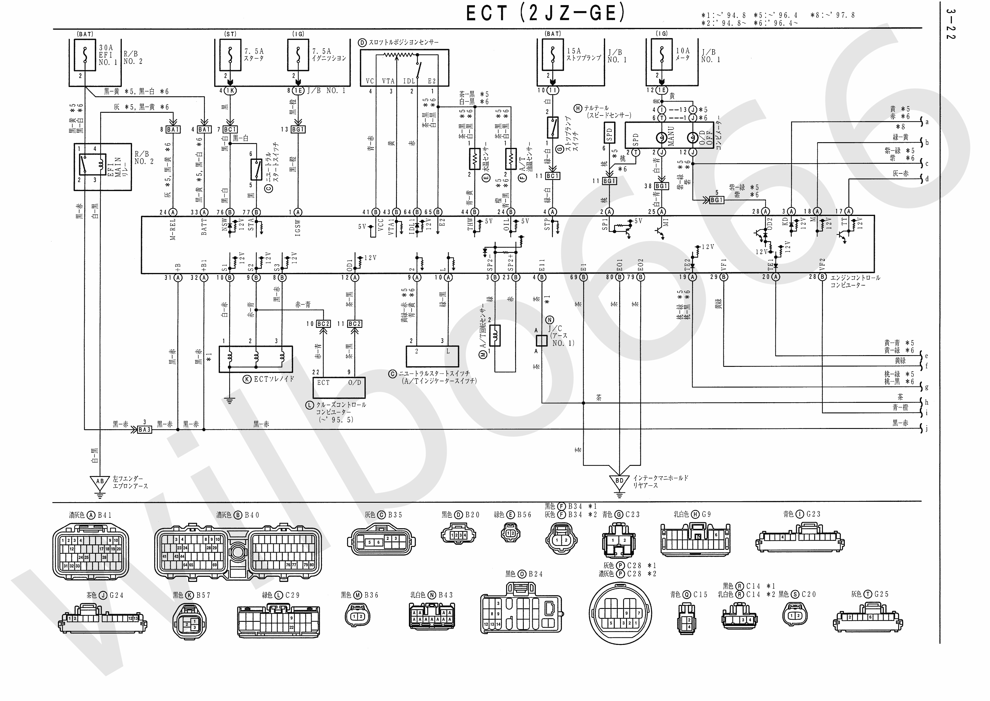 JZA80 Electrical Wiring Diagram 6742505 3 22 wilbo666 2jz ge jza80 supra engine wiring Lexus SC300 Engine at fashall.co
