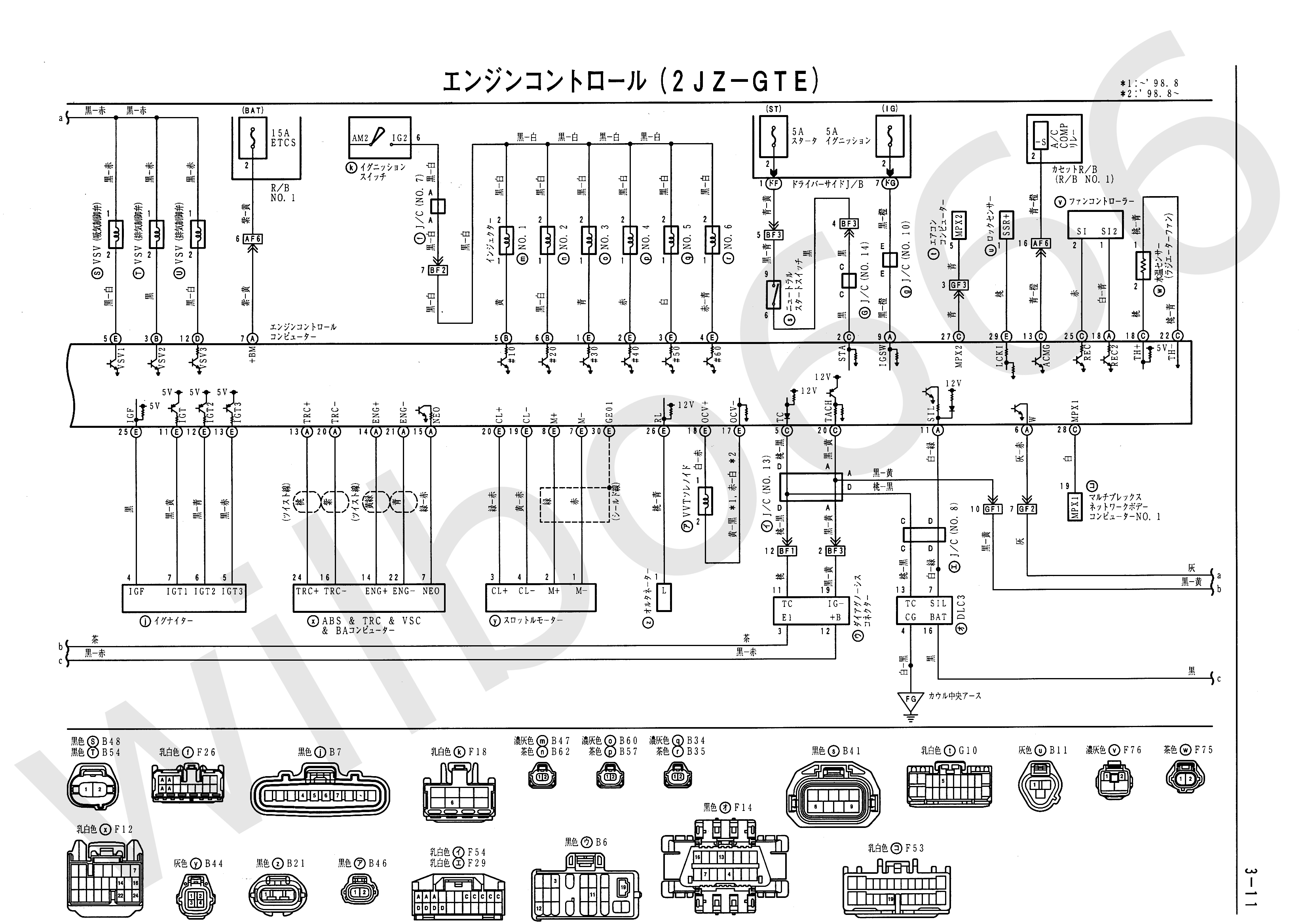 Wilbo666 2jz Gte Vvti Jzs161 Aristo Engine Wiring 2001 S10 Abs Line Diagram Toyota Diagrams