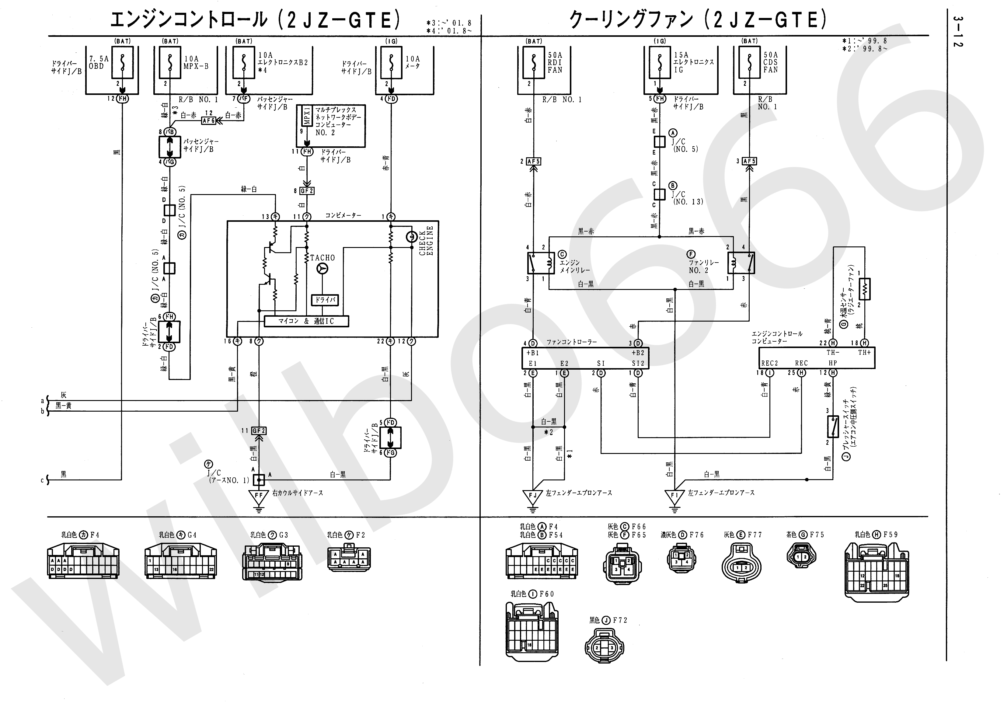 Wilbo666 2jz Gte Vvti Jzs161 Aristo Engine Wiring Tps On 60 Series Schematics Toyota Diagrams