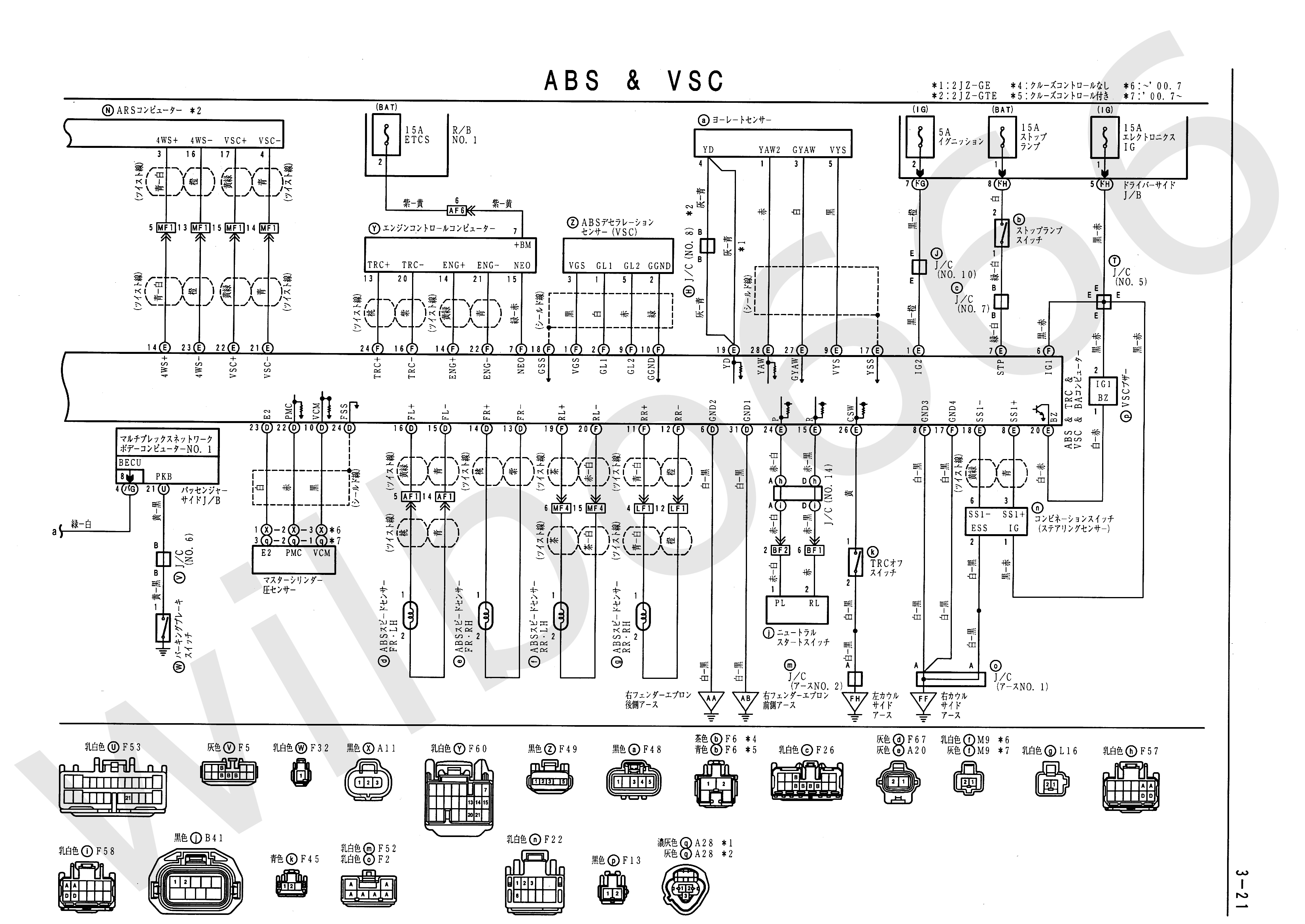 Wilbo666 2jz Gte Vvti Jzs161 Aristo Engine Wiring 2001 S10 Abs Line Diagram Jzs16x Electrical Book 6748505