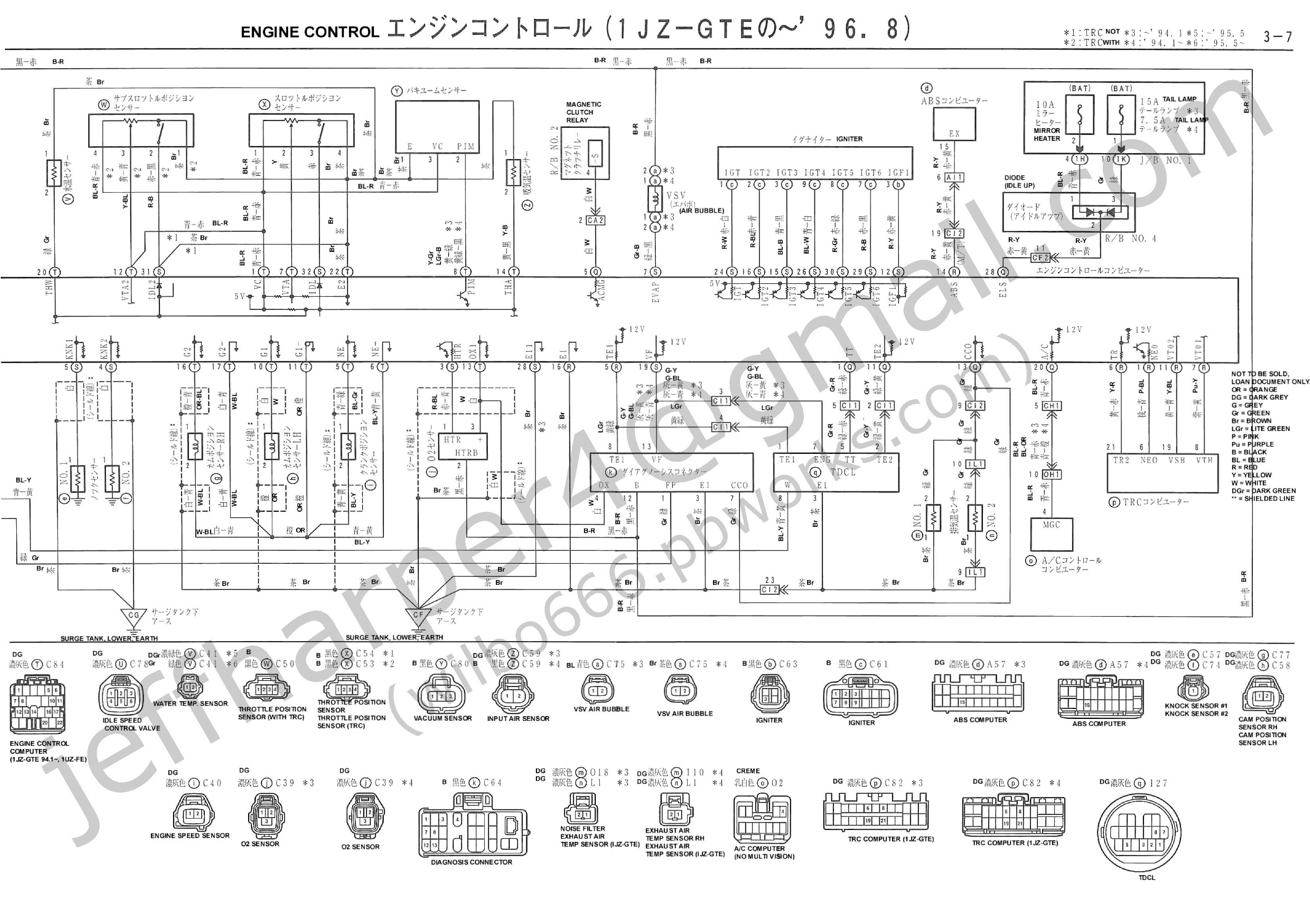 EFI main relay and the Fuel Pump Computer in the event of an Crash – 1jz Wiring Diagram