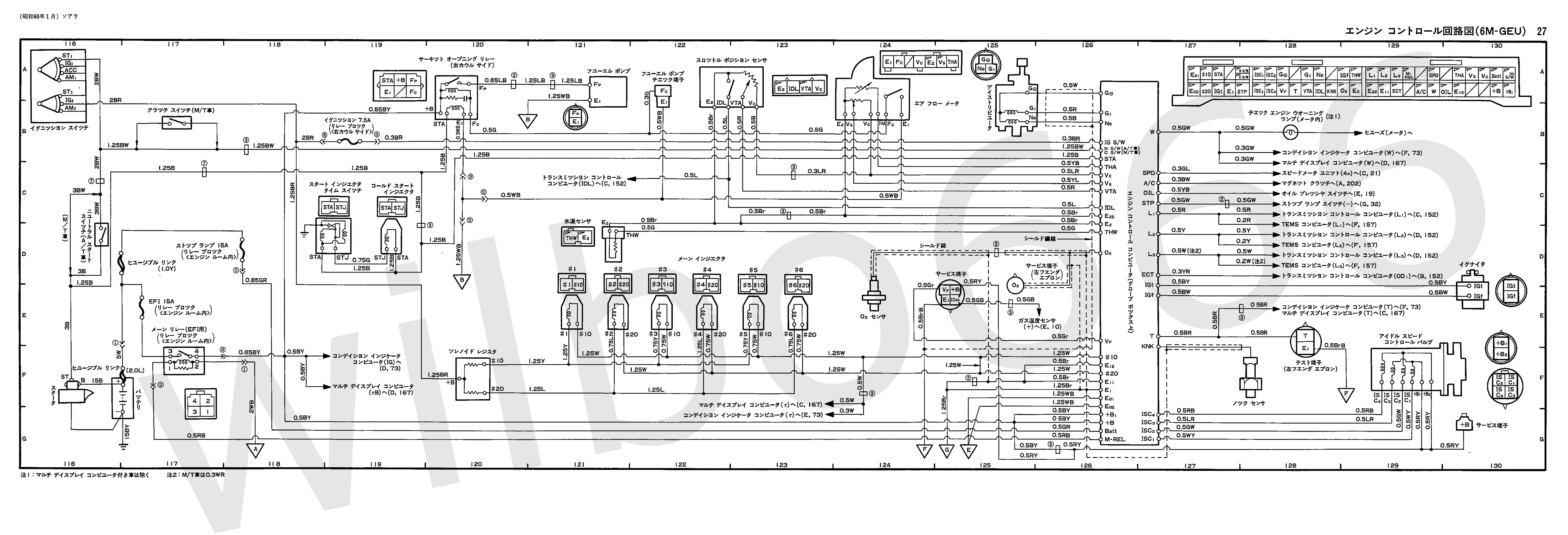 wilbo666 6m geu mz12 soarer engine wiring. Black Bedroom Furniture Sets. Home Design Ideas